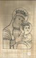 PAPYRUS À COLORIER - LA VIERGE MARIE -